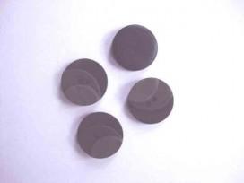5a Kunststof knoop 3 kleurig Zwart 23mm. 713-23