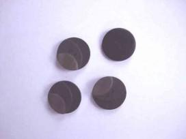 5b Kunststof knoop 3 kleurig Zwart 20mm. 713-20