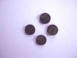 5d Kunststof knoop 3 kleurig Zwart 12mm. 713-12