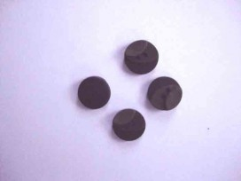 Kunststof knoop 3 kleurig Zwart 12mm. 713-12  Serie 1