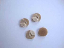 Kunststof knoop 3 kleurig Zand 15mm. 1-15  Serie 1