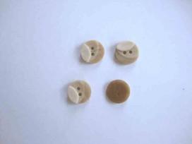 Kunststof knoop 3 kleurig Zand 12mm. 1-12  Serie 1