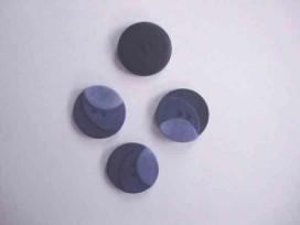 Kunststof knoop 3 kleurig Donkerblauw 20mm. 401-20  Serie 1
