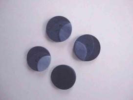 Kunststof knoop 3 kleurig Donkerblauw 18mm. 401-18  Serie 1