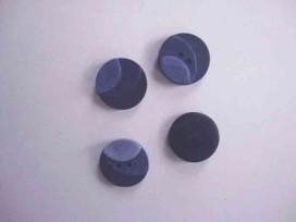 5k Kunststof knoop 3 kleurig Donkerblauw 15mm. 401-15