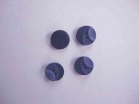 Kunststof knoop 3 kleurig Donkerblauw 12mm. 401-12  Serie 1