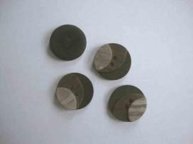 Kunststof knoop 3 kleurig Bruin 20mm. 3-20  Serie 1