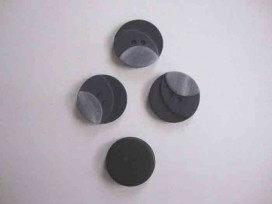 Kunststof knoop 3 kleurig Grijs 20mm. 103-20  Serie 1