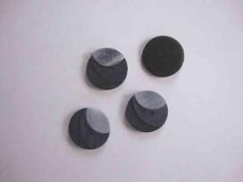 5q Kunststof knoop 3 kleurig Grijs 18mm. 103-18