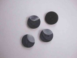 Kunststof knoop 3 kleurig Grijs 18mm. 103-18  Serie 1