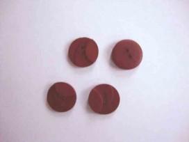 Kunststof knoop 3 kleurig Warmrood 18mm. 504-18  Serie 1