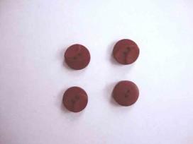 Kunststof knoop 3 kleurig Warmrood 12mm. 504-12  Serie 1