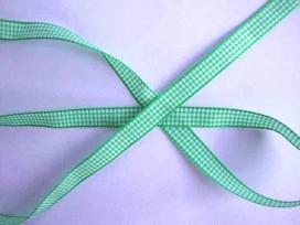 Boerenbont lint Groen/wit geruit 10mm