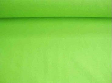 Lime kleurige canvas 100% katoen 240 gr/m2. 1.45 mtr.br.