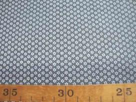 5a Quiltkatoen ZGW Grijs met witte mini fleur 06067-012