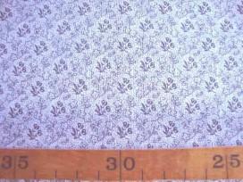 5b Quiltkatoen ZGW Wit met grijze mini roos 06064-002
