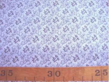 Quiltkatoen Wit met grijze mini roos ZGW 06064-002