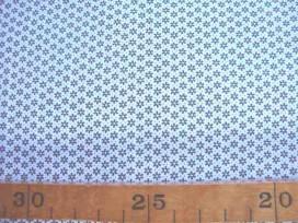 5c Quiltkatoen ZGW Wit met grijze mini fleur 06067-002