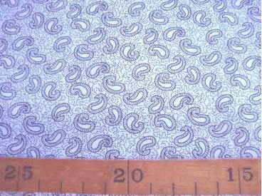 5d Quiltkatoen ZGW Wit met grijze mini paisley 06066-001