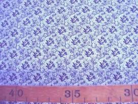 5f Quiltkatoen ZGW Wit met zwarte mini roos 06064-001