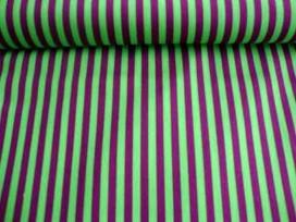 Ton sur ton Streep Lime/paars 2224-23N