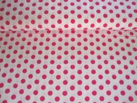 Middelstip katoen Wit/pink 5572-17N