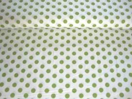 Middelstip katoen Wit/lime 5572-24N
