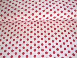 Middelstip katoen Wit/rood 5572-15N