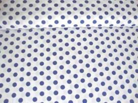 Middelstip katoen Wit/blauw 5572-5N