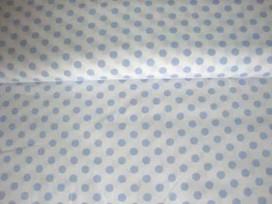 Middelstip katoen Wit/lichtblauw 5572-2N