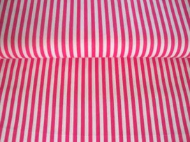 5ib Lengtestreep Pink/wit 5574-17N