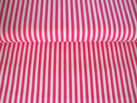 Lengtestreep katoen Pink/wit 5574-17N