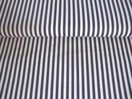 5ha Lengtestreep Donkerblauw/wit 5574-8N