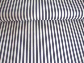 Lengtestreep katoen Zwart/wit 5574-69N