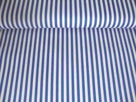 Lengtestreep katoen Blauw/wit 5574-5N