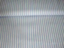 Lengtestreep katoen Lichtblauw/wit 5574-2N