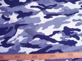 Legerprint fijn Blauw/grijs/wit/zwart 11111B