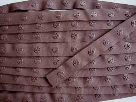 Drukkertjesband Bruin  18 mm