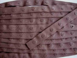 Drukkertjesband Bruin  18mm breed