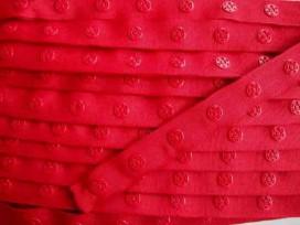 Drukkertjesband Rood  18mm breed