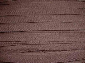 Donkerbruin keperband van 14 mm. breed. 100% polyester