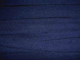 Donkerblauw keperband van 14 mm. breed. 100% polyester
