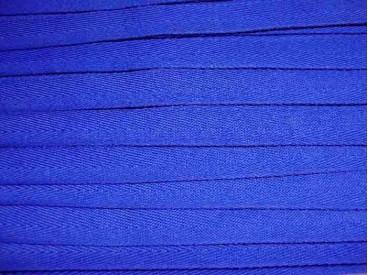 Kobalt kleurig keperband van 14 mm. breed. 100% polyester