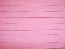 Roze keperband van 14 mm. breed. 100% polyester