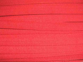 Helderrood keperband van 14 mm. breed. 100% polyester