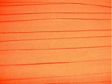 Oranje keperband van 14 mm. breed. 100% polyester