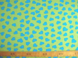 Tricot N Ton sur ton Hartjes Lime/aqua 3998-123N