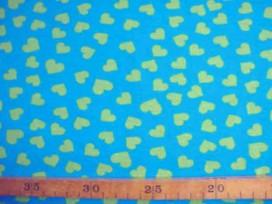 Tricot N Ton sur ton Hartje Aqua/lime 3998-4N