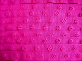 Drukkertjesband Pink  18mm breed
