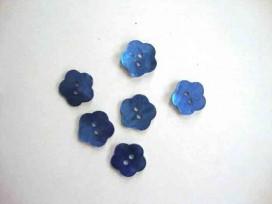 Bloemknoop parelmoer Blauw 12mm bk274